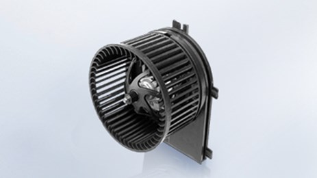 Blower modules are equipped with a vehicle-specific motor unit and a fixed blade assembly.